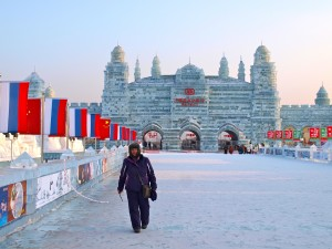 Maura Ward at Kremlin in Harbin